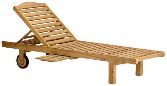 Terraza tumbona madera teka for Tumbona colgante